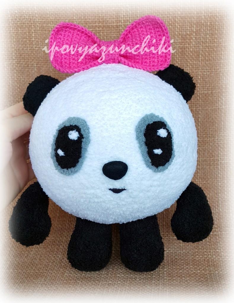 Малышарик Панда, фото, картинка, схема, описание, бесплатно, крючком, амигуруми