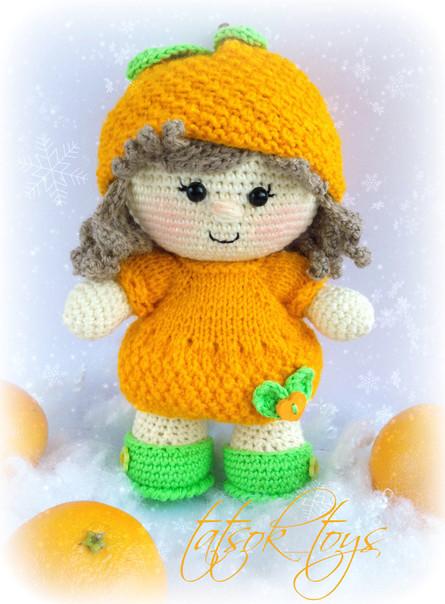 Малышка Мандаринка, фото, картинка, схема, описание, бесплатно, крючком, амигуруми