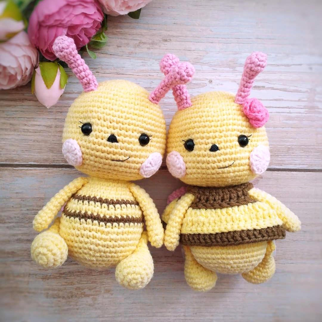 Малышка пчёлка, фото, картинка, схема, описание, бесплатно, крючком, амигуруми