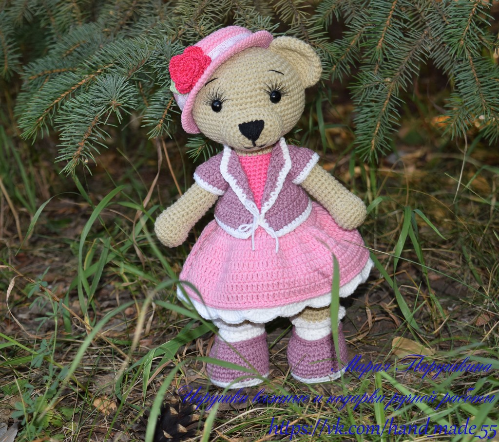 Медведица Настенька, фото, картинка, схема, описание, бесплатно, крючком, амигуруми