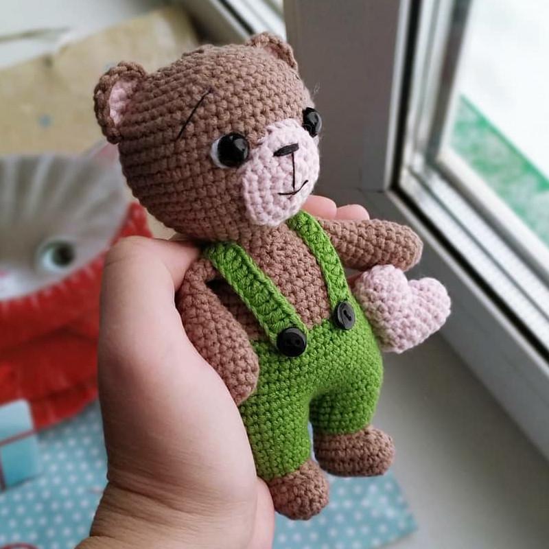 Медвежонок, фото, картинка, схема, описание, бесплатно, крючком, амигуруми