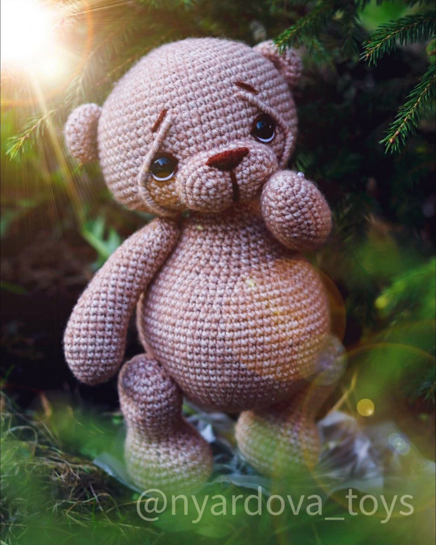 Медвежонок Пухля, фото, картинка, схема, описание, бесплатно, крючком, амигуруми