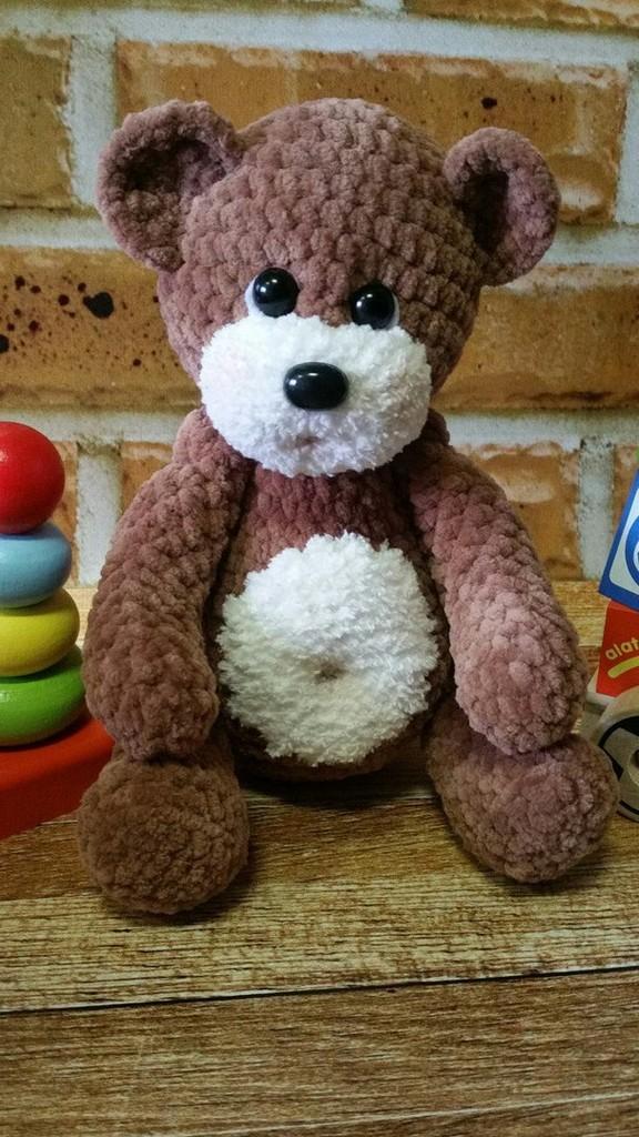 Медвежонок Ромка, фото, картинка, схема, описание, бесплатно, крючком, амигуруми