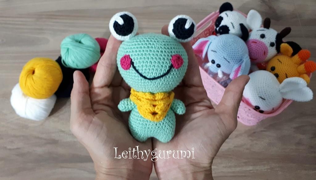 Милая маленькая лягушка, фото, картинка, схема, описание, бесплатно, крючком, амигуруми