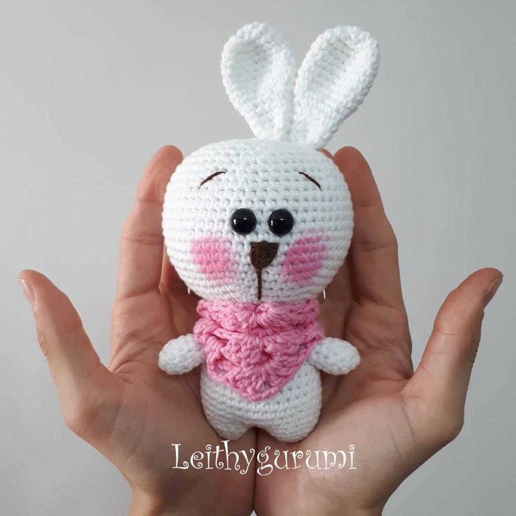 Милый маленький зайчик, фото, картинка, схема, описание, бесплатно, крючком, амигуруми