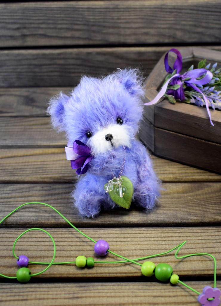 Мишка Лавандёнок, фото, картинка, схема, описание, бесплатно, крючком, амигуруми