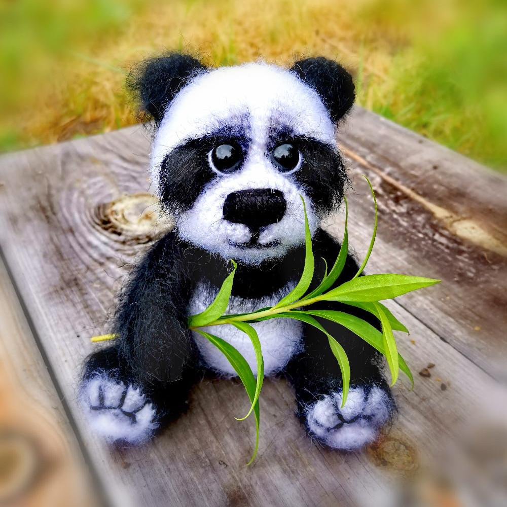 Мишка Панда, фото, картинка, схема, описание, бесплатно, крючком, амигуруми