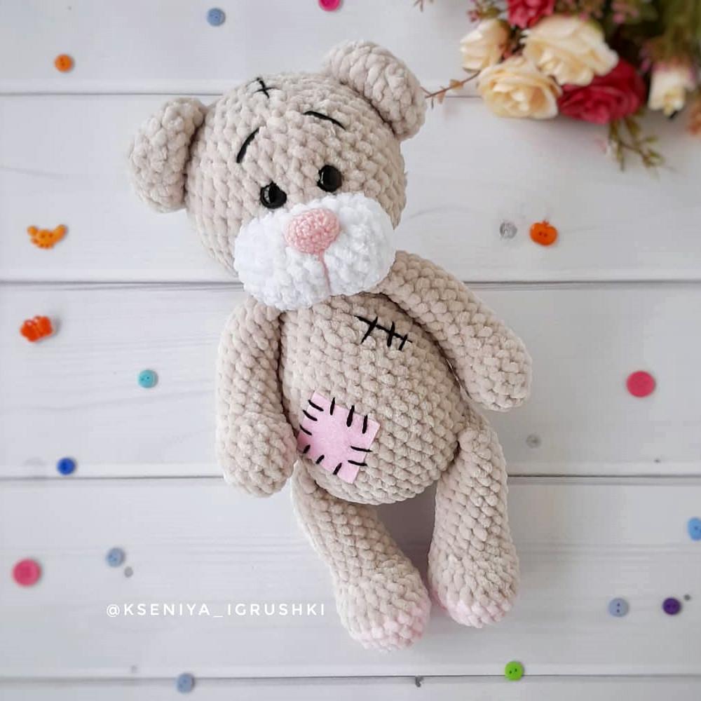 Мишка Тедди, фото, картинка, схема, описание, бесплатно, крючком, амигуруми