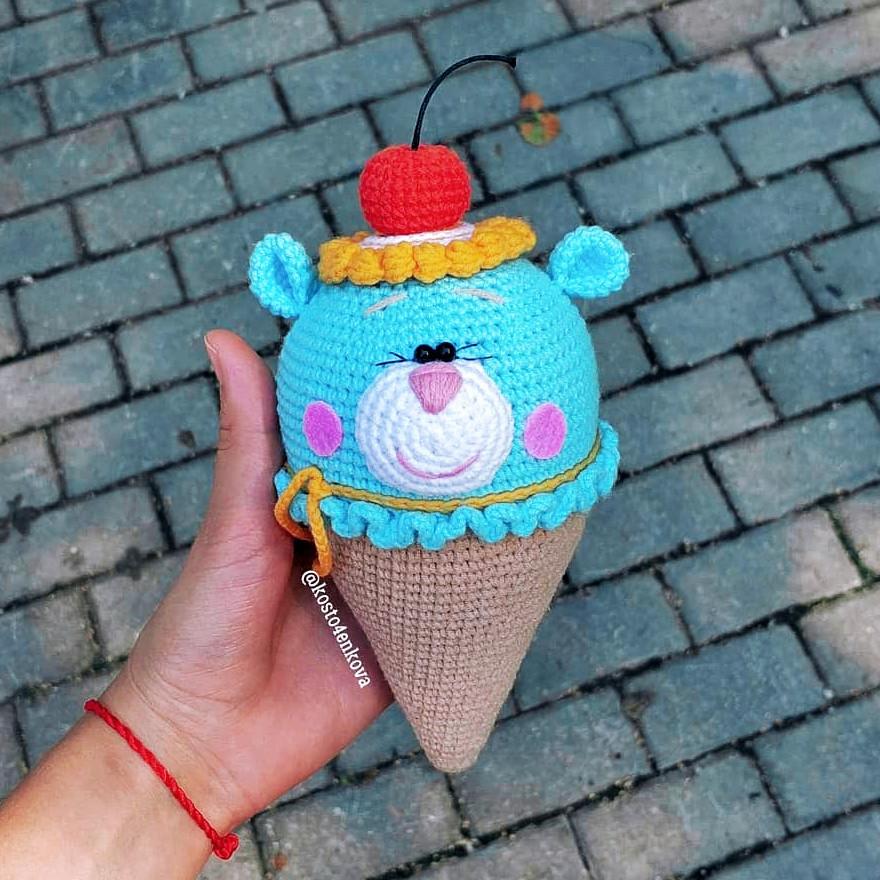 Мороженка, фото, картинка, схема, описание, бесплатно, крючком, амигуруми
