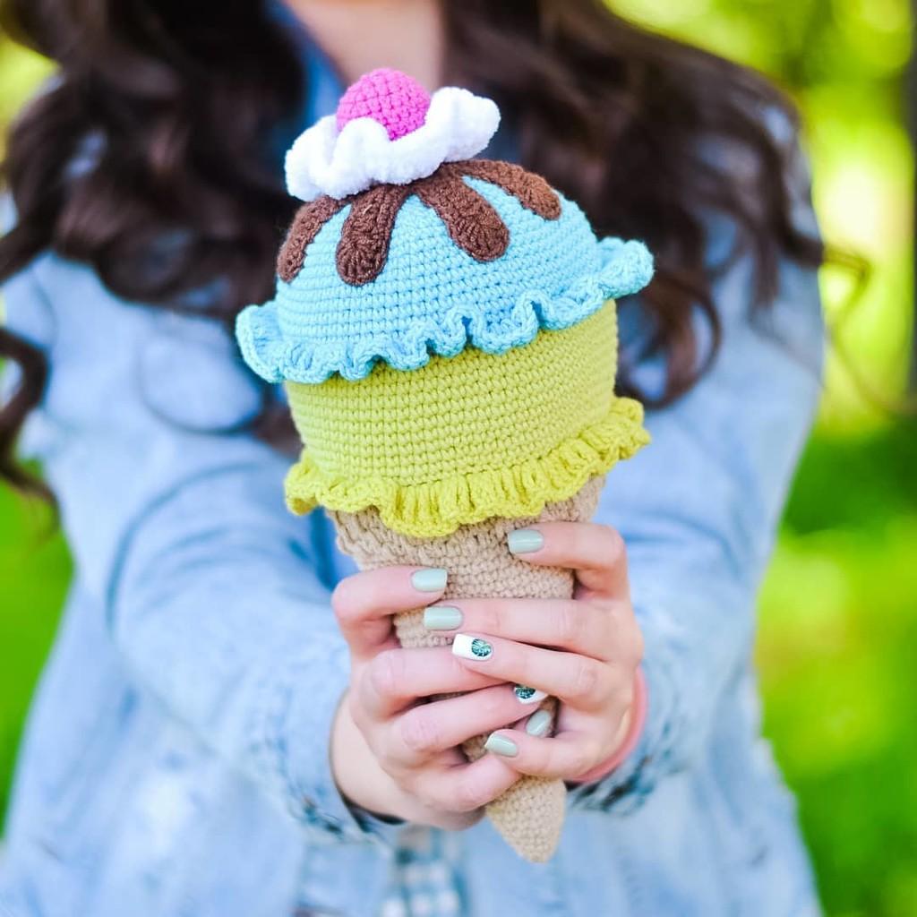 Мороженое, фото, картинка, схема, описание, бесплатно, крючком, амигуруми