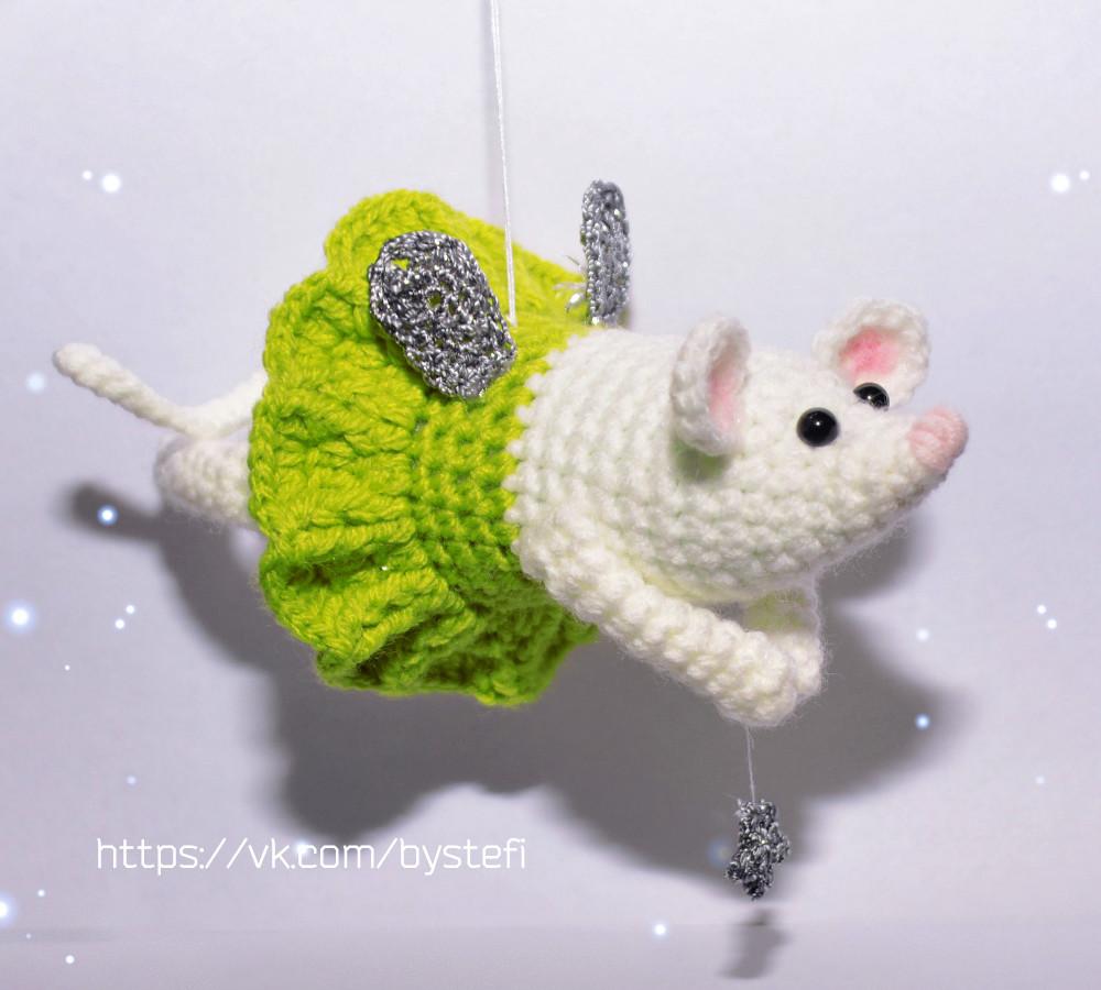 Мышка Фея, фото, картинка, схема, описание, бесплатно, крючком, амигуруми