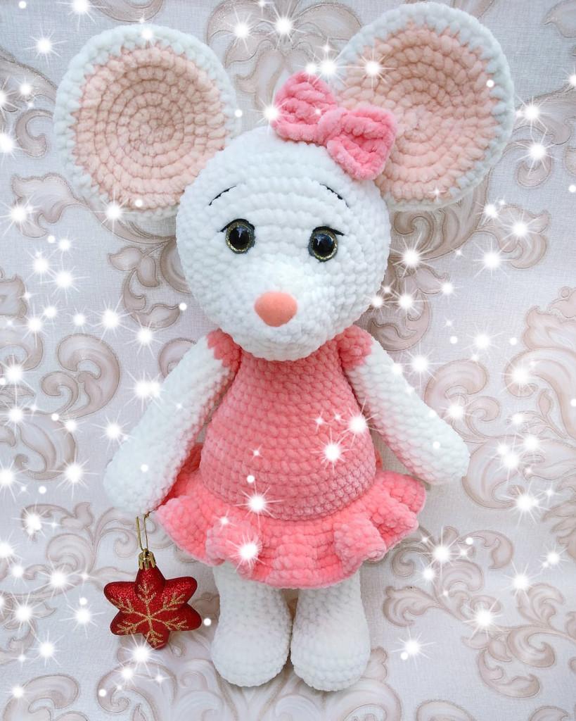 Мышка Мира, фото, картинка, схема, описание, бесплатно, крючком, амигуруми