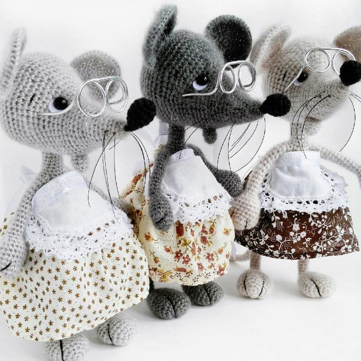 Мышка Рути, фото, картинка, схема, описание, бесплатно, крючком, амигуруми