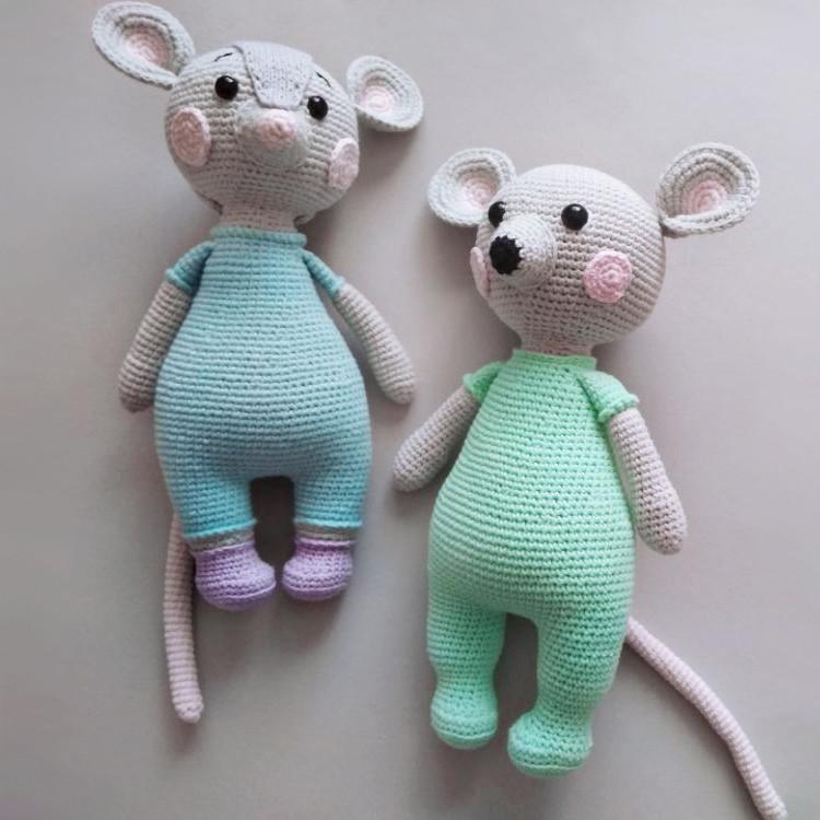 Мышка Шелли и мышонок Шейк, фото, картинка, схема, описание, бесплатно, крючком, амигуруми