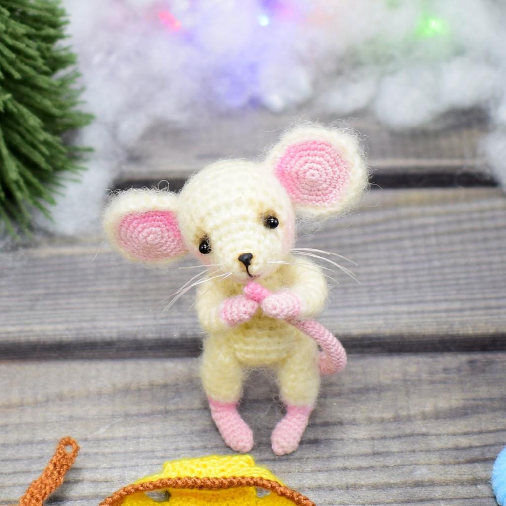 Мышонок, фото, картинка, схема, описание, бесплатно, крючком, амигуруми