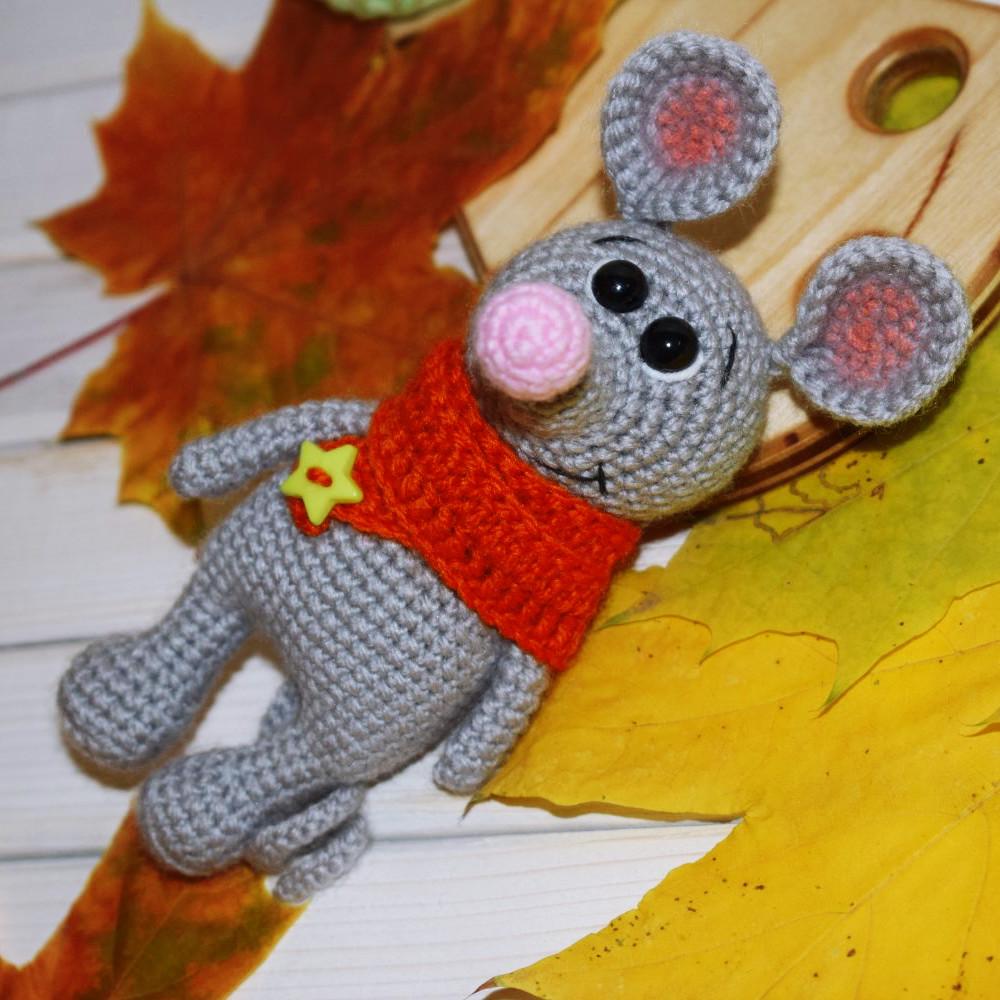 Мышонок Джереми, фото, картинка, схема, описание, бесплатно, крючком, амигуруми