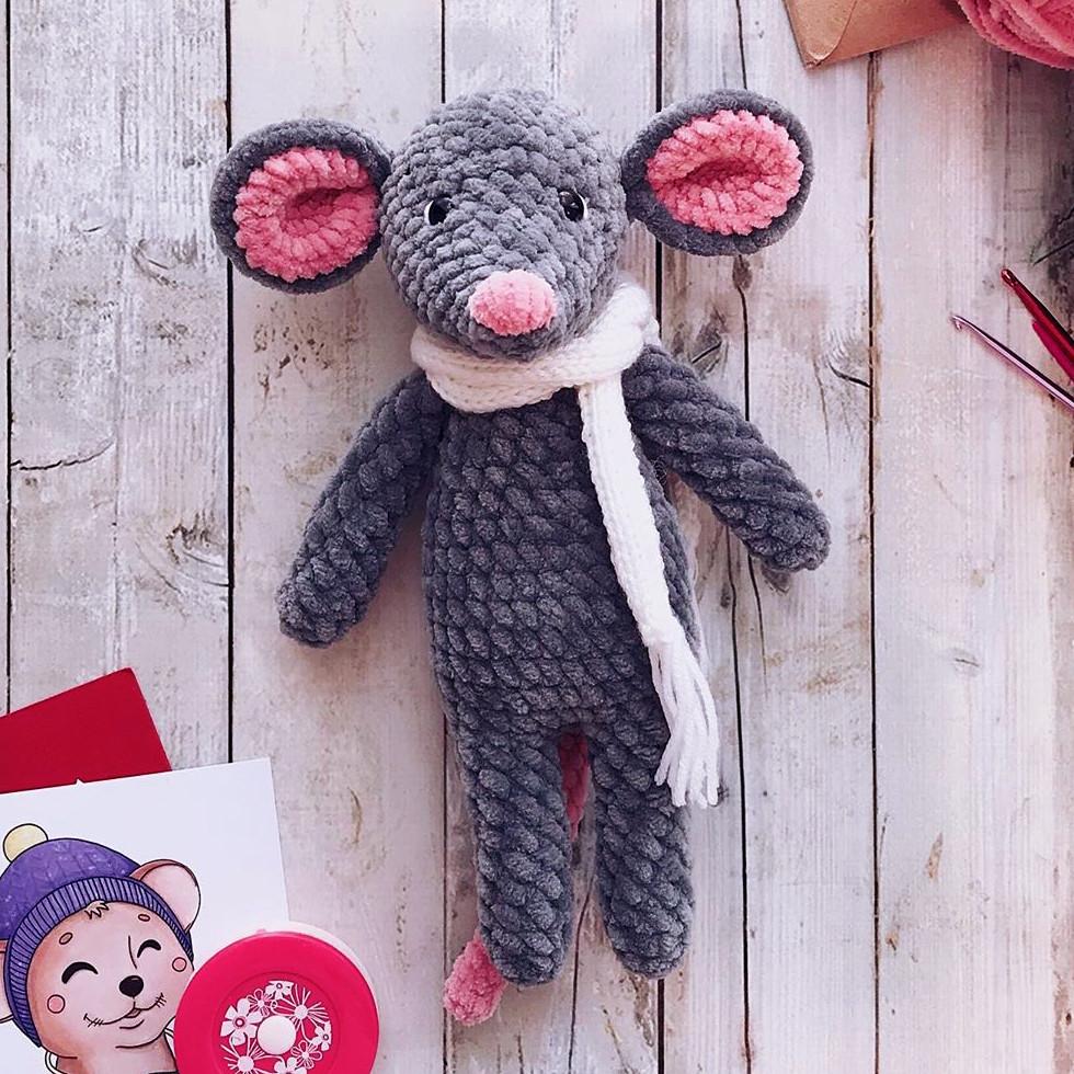 Мышонок Малышонок, фото, картинка, схема, описание, бесплатно, крючком, амигуруми