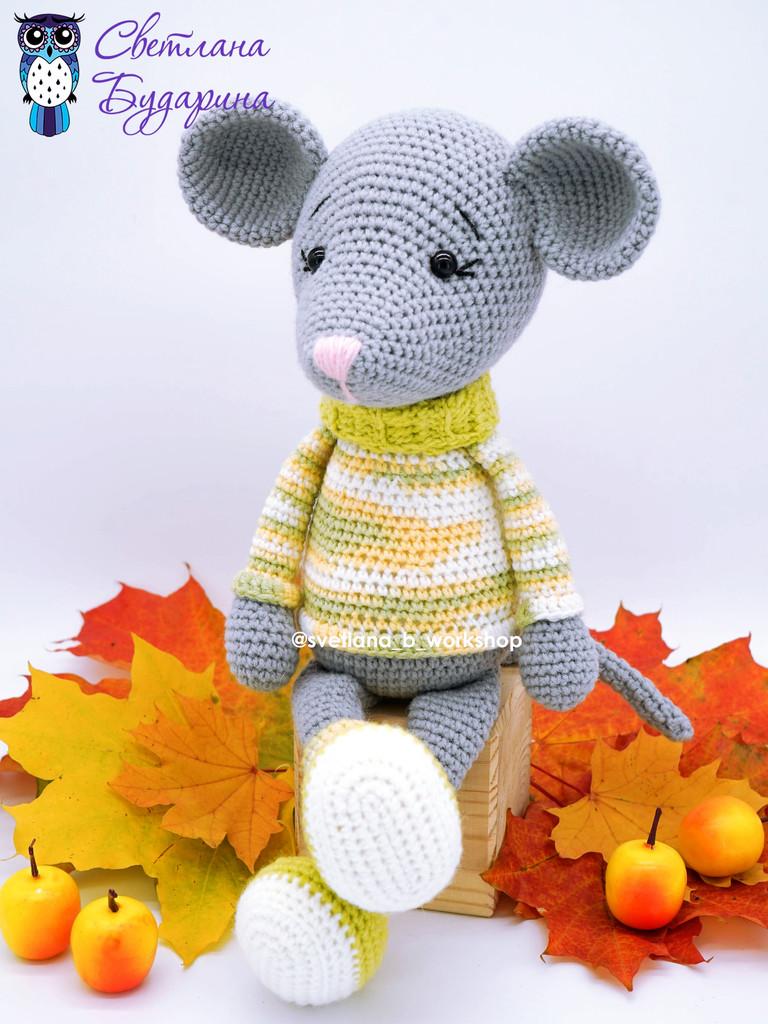 Мышонок в свитере, фото, картинка, схема, описание, бесплатно, крючком, амигуруми