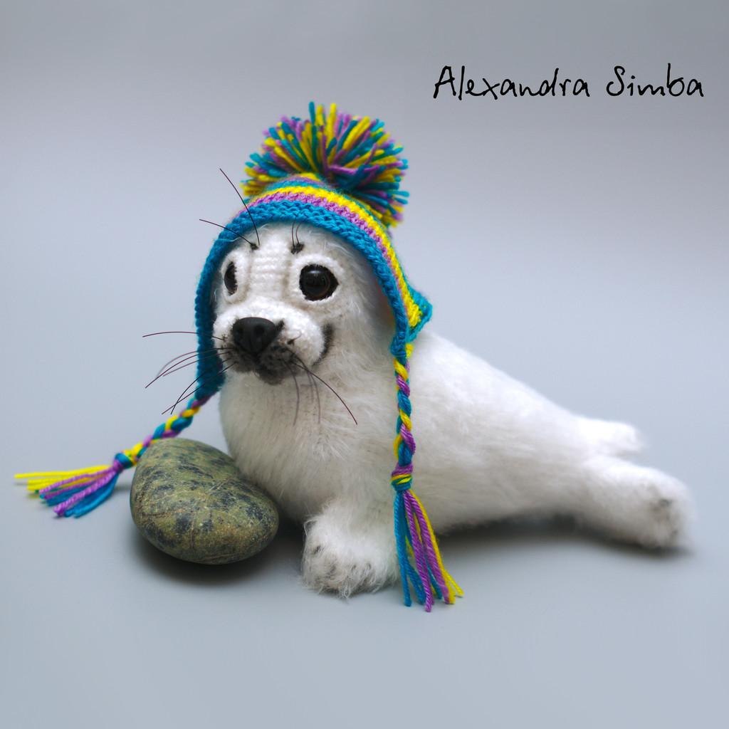 Нерпёнок Снежок, фото, картинка, схема, описание, бесплатно, крючком, амигуруми