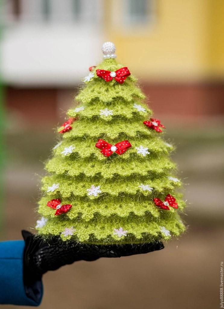 Новогодняя искрящаяся ёлка, фото, картинка, схема, описание, бесплатно, крючком, амигуруми