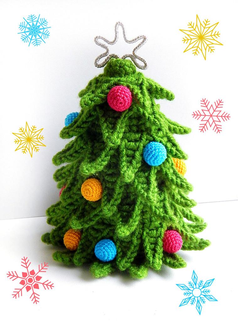 Новогодняя ёлочка, фото, картинка, схема, описание, бесплатно, крючком, амигуруми