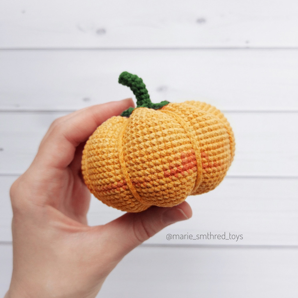 Осенняя тыква, фото, картинка, схема, описание, бесплатно, крючком, амигуруми