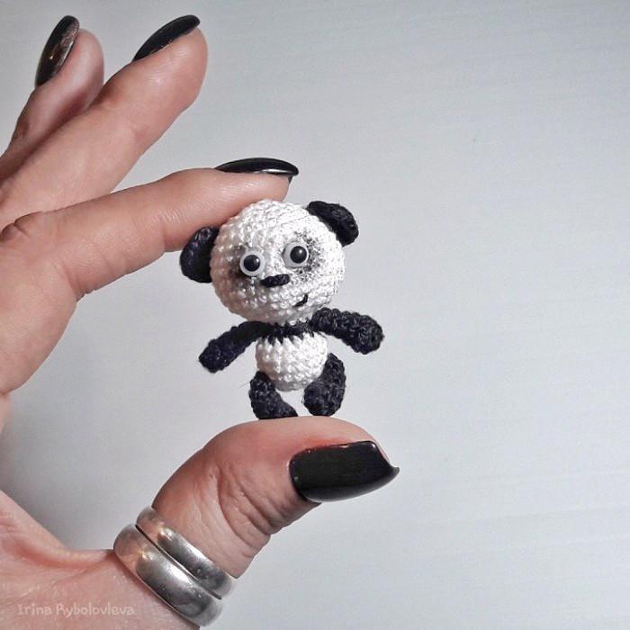 Панда, фото, картинка, схема, описание, бесплатно, крючком, амигуруми