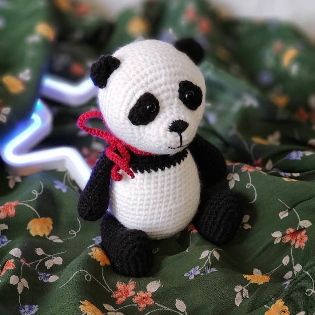 Панда Настя, фото, картинка, схема, описание, бесплатно, крючком, амигуруми