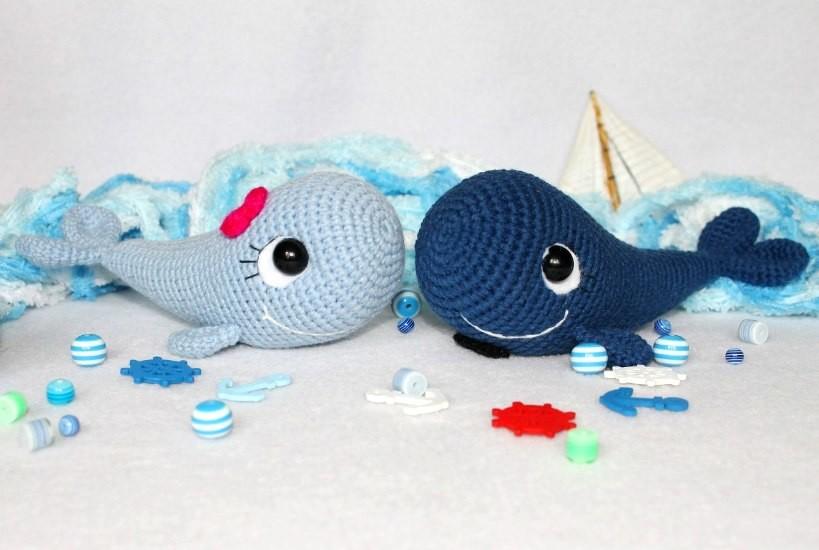 Парочка китов, фото, картинка, схема, описание, бесплатно, крючком, амигуруми