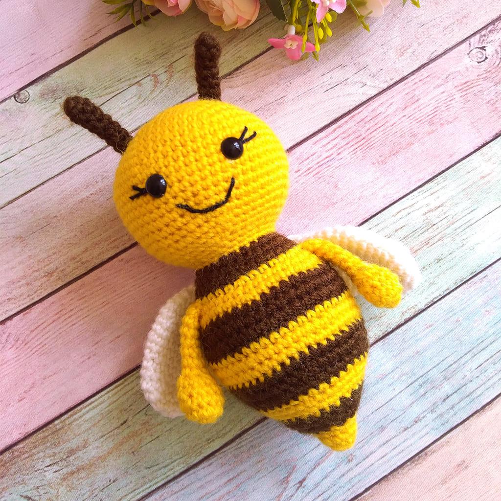 Пчёлка, фото, картинка, схема, описание, бесплатно, крючком, амигуруми
