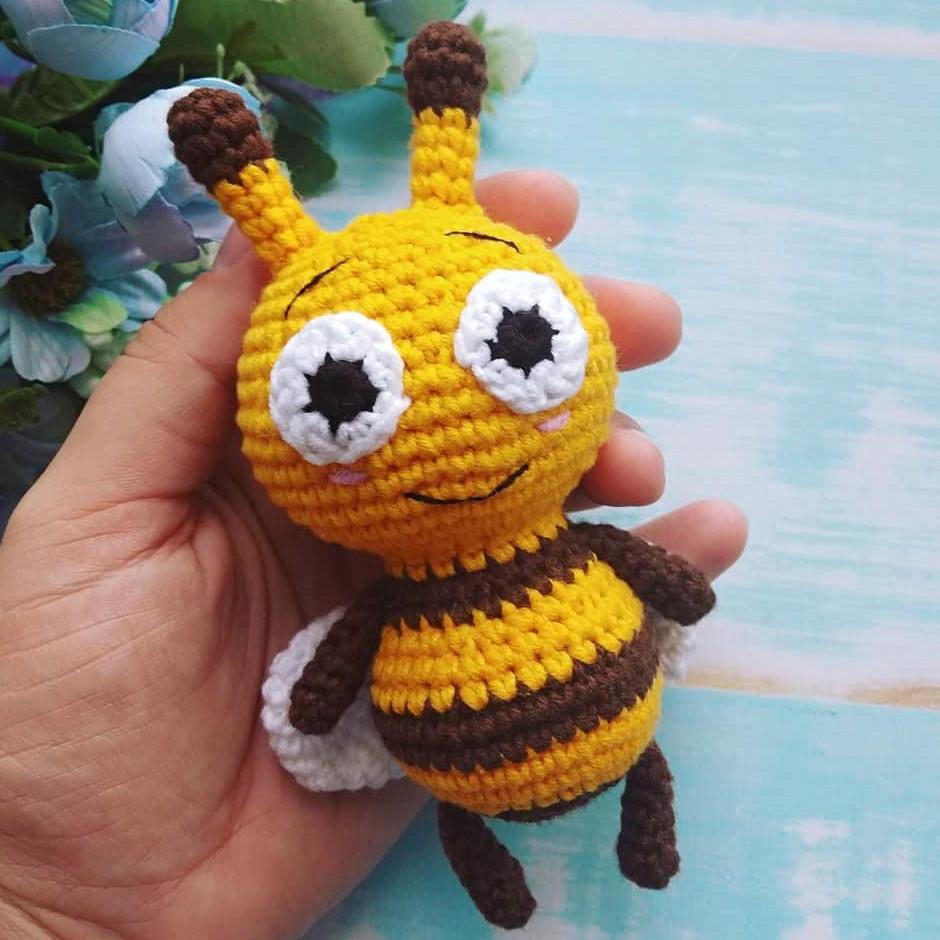 Пчёлка Би-Би, фото, картинка, схема, описание, бесплатно, крючком, амигуруми