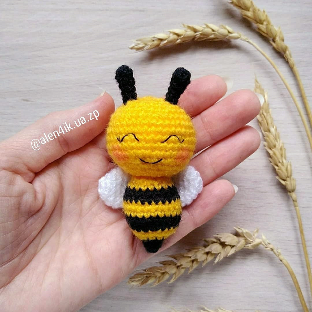 Пчёлка Майя, фото, картинка, схема, описание, бесплатно, крючком, амигуруми