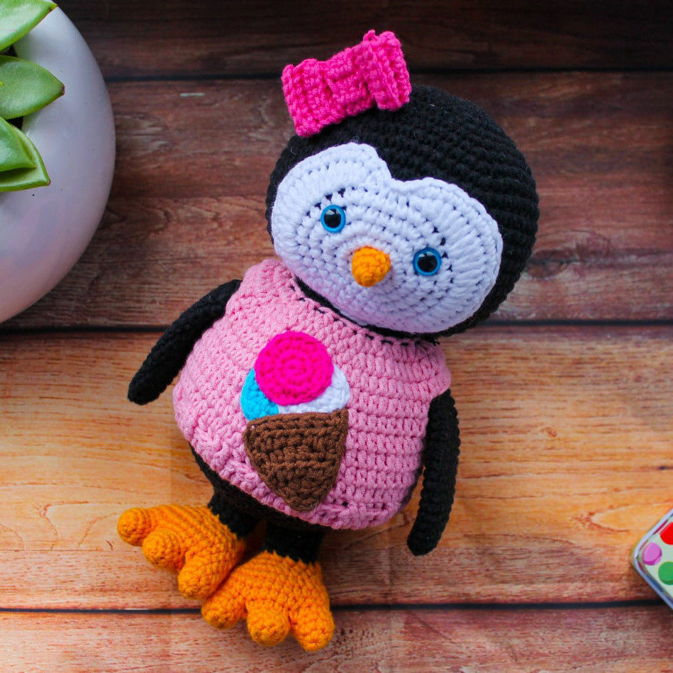 Пингвиняша, фото, картинка, схема, описание, бесплатно, крючком, амигуруми