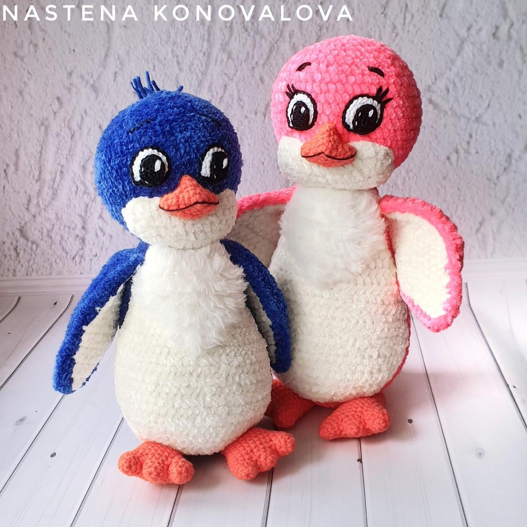 Пингвинята Лоло и Пепе, фото, картинка, схема, описание, бесплатно, крючком, амигуруми