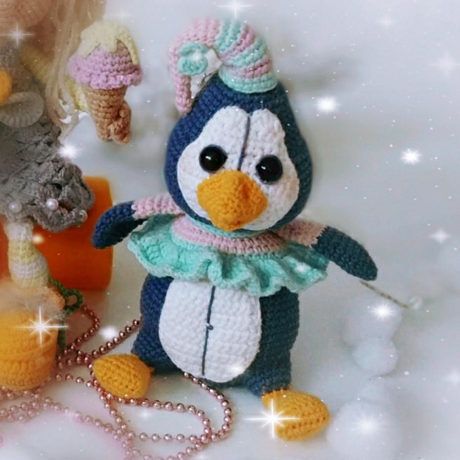 Пингвинёнок Лола, фото, картинка, схема, описание, бесплатно, крючком, амигуруми