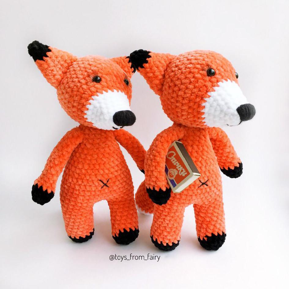 Плюшевая лисичка, фото, картинка, схема, описание, бесплатно, крючком, амигуруми