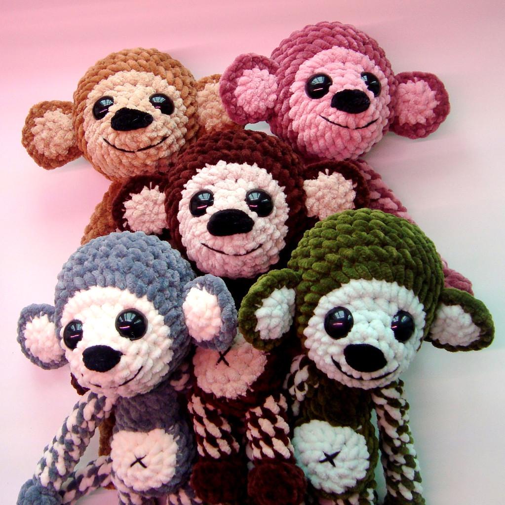 Плюшевая обезьянка, фото, картинка, схема, описание, бесплатно, крючком, амигуруми