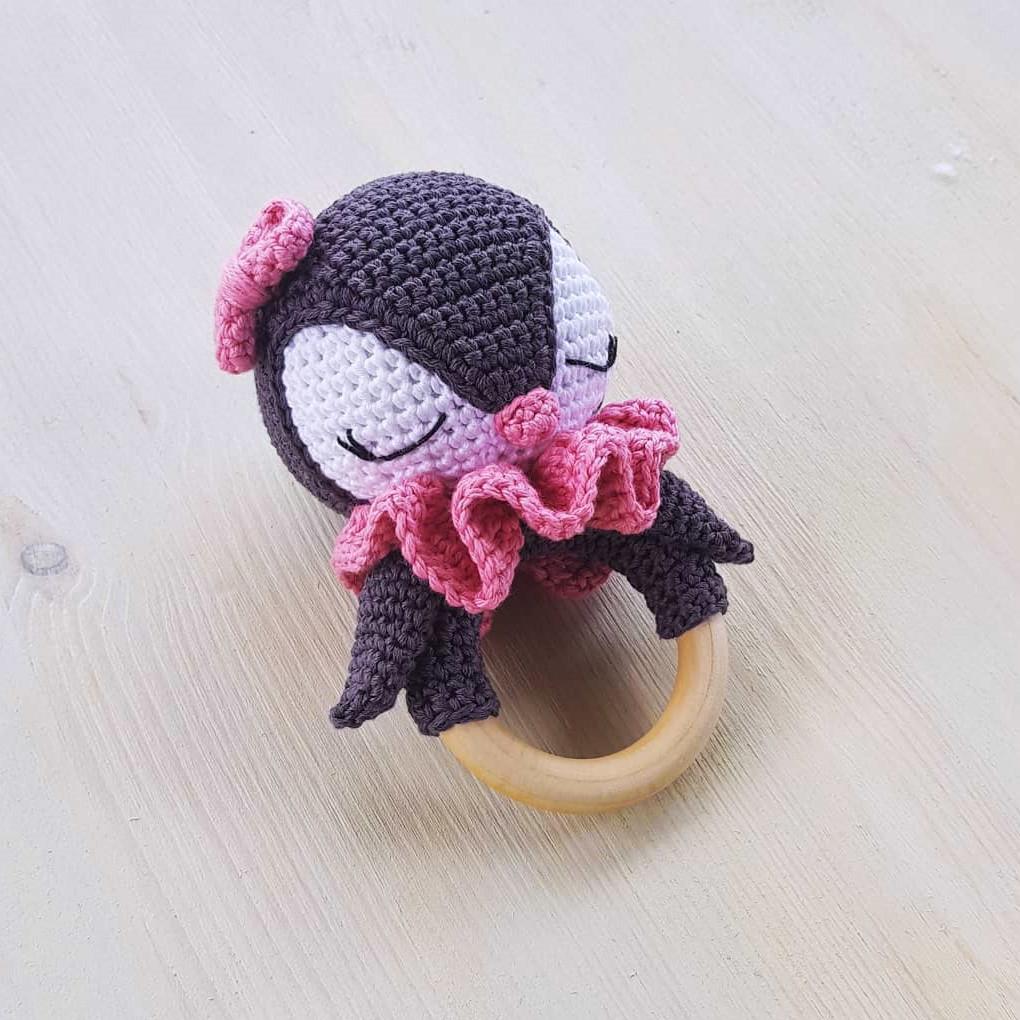 Погремушка Пингвин, фото, картинка, схема, описание, бесплатно, крючком, амигуруми