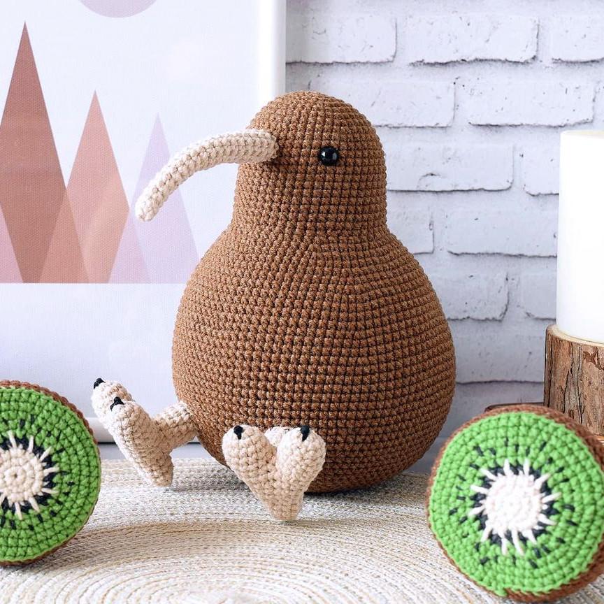 Птица Киви, фото, картинка, схема, описание, бесплатно, крючком, амигуруми