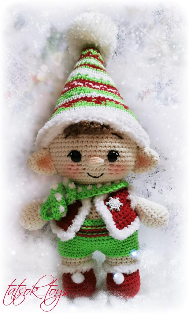 Пупс эльф рождественский, фото, картинка, схема, описание, бесплатно, крючком, амигуруми