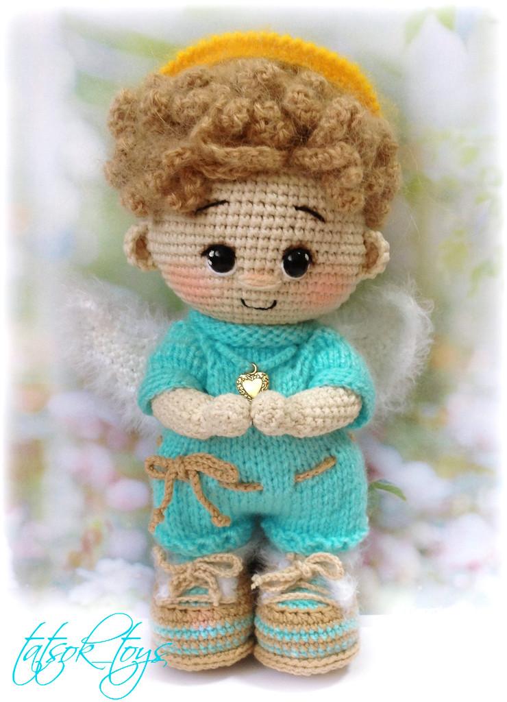Пупс малыш Ангел, фото, картинка, схема, описание, бесплатно, крючком, амигуруми
