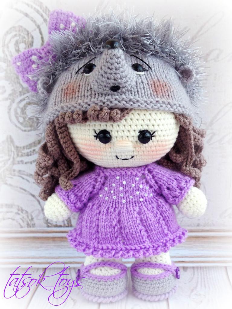 Пупс-малышка Ежичка, фото, картинка, схема, описание, бесплатно, крючком, амигуруми