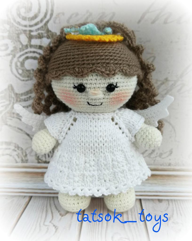 Пупс в костюме ангелочка, фото, картинка, схема, описание, бесплатно, крючком, амигуруми