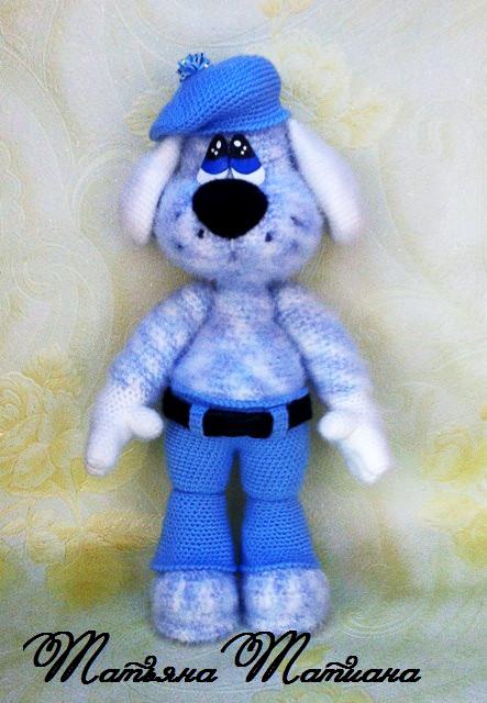 Пёс Даур, фото, картинка, схема, описание, бесплатно, крючком, амигуруми