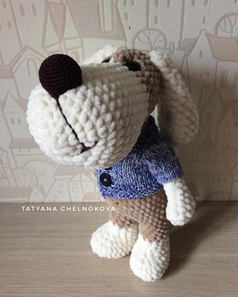 Пёс Талисман, фото, картинка, схема, описание, бесплатно, крючком, амигуруми