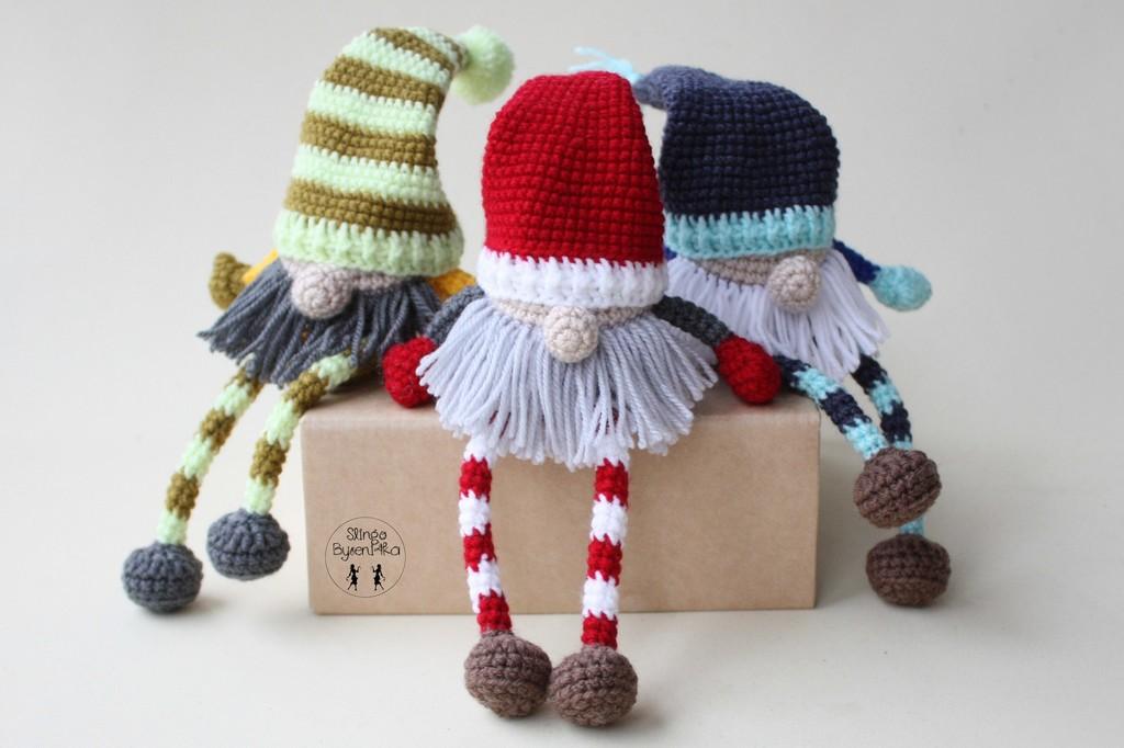 Рождественские гномы, фото, картинка, схема, описание, бесплатно, крючком, амигуруми