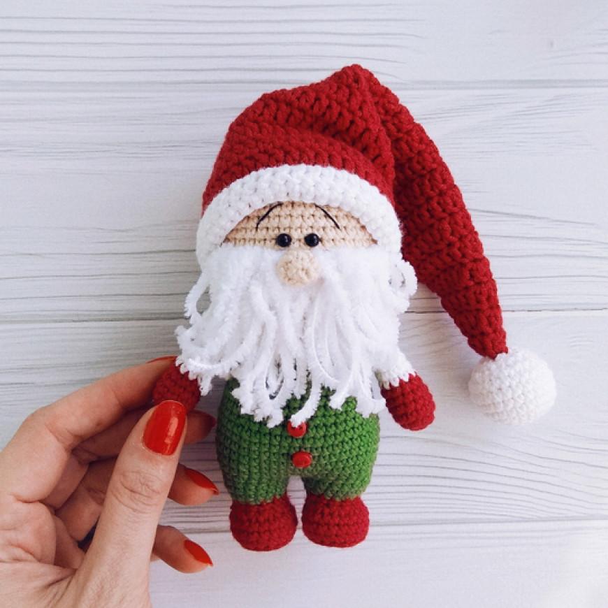 Рождественский гном, фото, картинка, схема, описание, бесплатно, крючком, амигуруми
