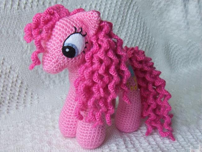 Розовая пони, фото, картинка, схема, описание, бесплатно, крючком, амигуруми