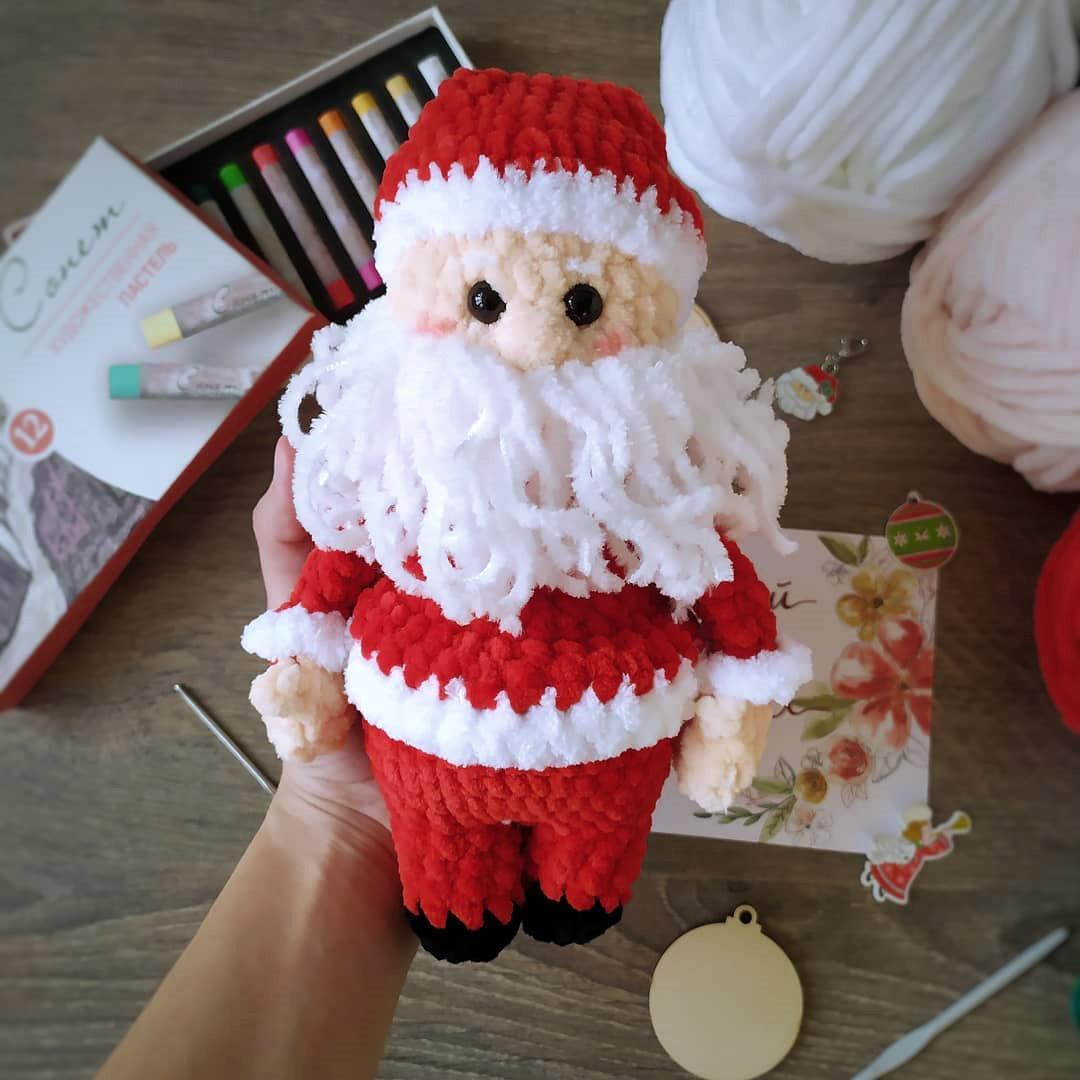 Санта, фото, картинка, схема, описание, бесплатно, крючком, амигуруми
