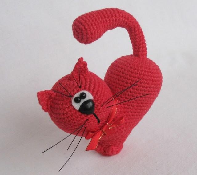 Сердце Кот, фото, картинка, схема, описание, бесплатно, крючком, амигуруми